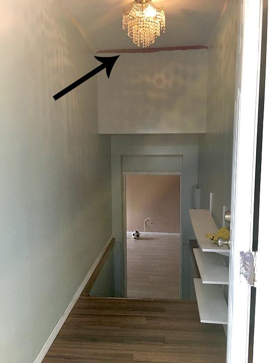 chandelier lamp in hallway