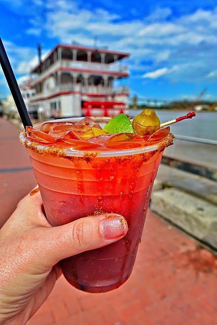 Best Bloody Mary in Savannah GA from Bernie's Oyster House on the River