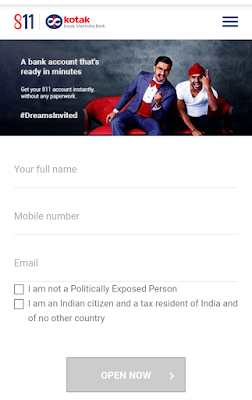 Open Free Savings Account Of Kotak Mahindra Bank