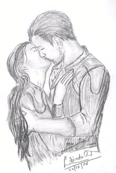 pencil sketches of couples in love and pencil sketches of couples kissing pencil drawings