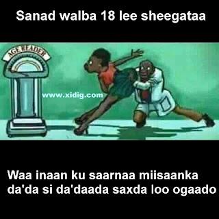 Miisaanka da'da lagu ogaado iyo haweenka
