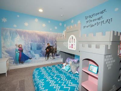 Wallpaper Dinding Kamar Tidur Anak Frozen Murah