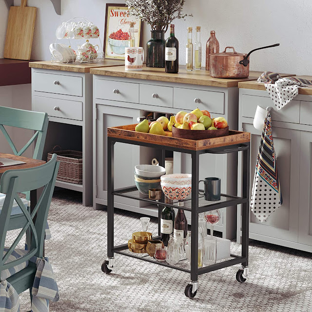 Songmics Mesh Shelves Kitchen Cart #Giveaway! @Songmics_us
