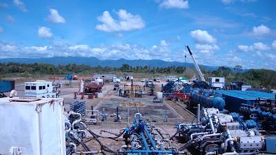 equipamiento de fractura hidraulica armado lineas