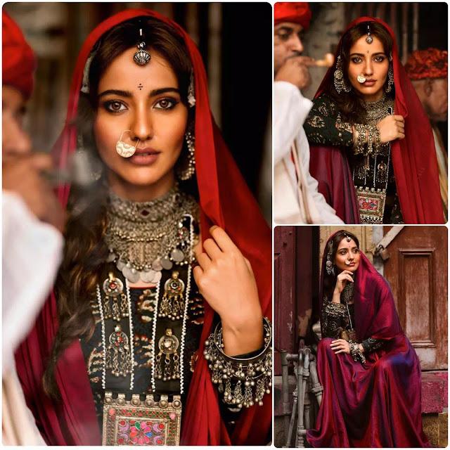 Neha Sharma Messy Dutch Braid