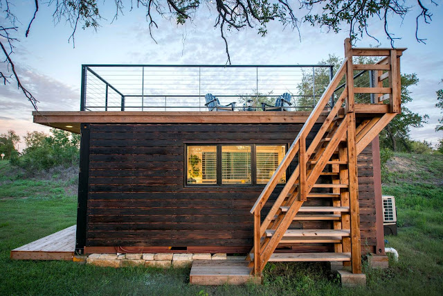 Shipping Container Homes Buildings Small And Cozy Shipping Container Houses With Rooftop Deck Waco Texas