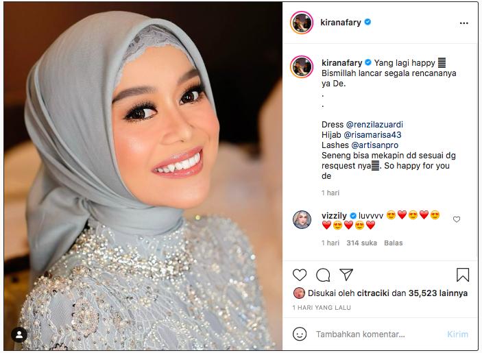 Make Up lamaran Lesti Kejora.* Instagram.com/@kiranafary
