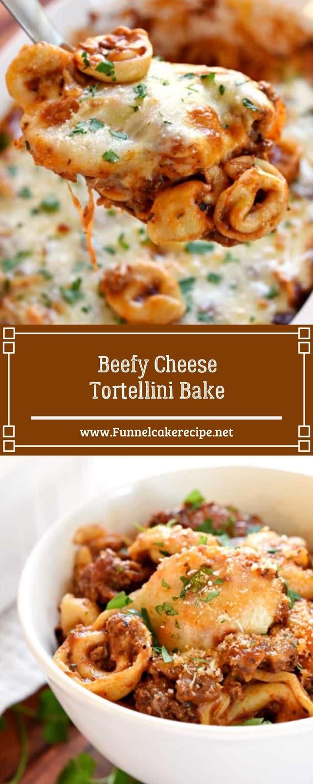 Beefy Cheese Tortellini Bake