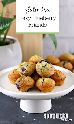 Easy Blueberry Friands Recipe No Whipping No Mixer Gluten Free