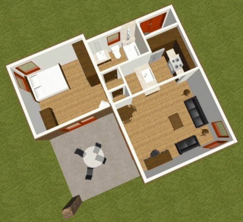 Desain Denah Rumah 3d Tipe 36 Idaman