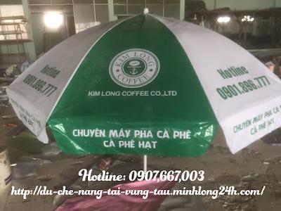 Bán dù che nắng dù quảng cáo đường kính 2,2m giá rẻ tại Bà Rịa Vũng Tàu