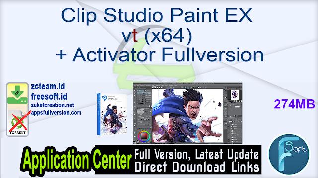Clip Studio Paint EX v1.10.13 (x64) + Activator Fullversion