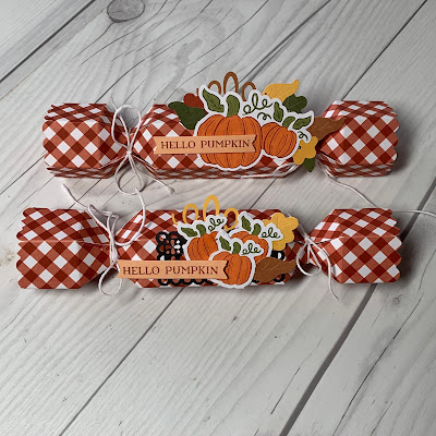 Two pumpkin  treat holders for Fall Celebrations