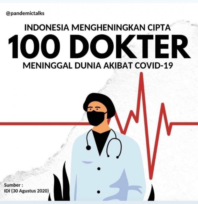 Ratusan Dokter Gugur Akibat COVID-19, IDI Usulkan 4 Permintaan Baru