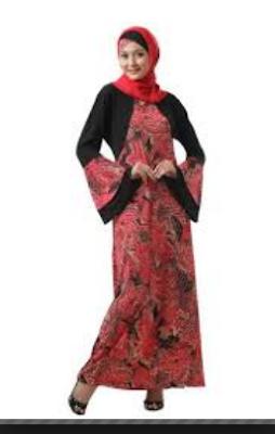contoh model baju batik wanita terbaru 2017