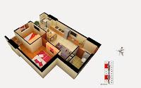 Thiết kế căn 3 5 13 15 tòa B chung cư Gemek Tower