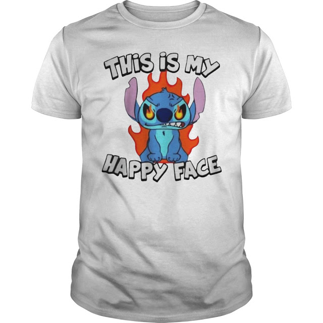 Stitch This Is My Happy Face T Shirts Hoodie Sweatshirt