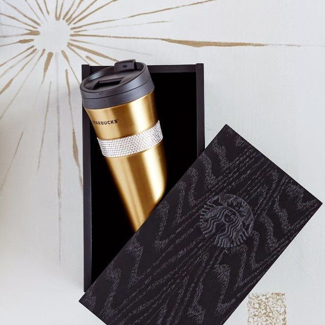 Gold Swarovski Tumbler from Starbucks