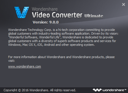 Wondershare Video Converter Ultimate 9 + Crack โปรแกรมแปลงไฟล์วีดีโอ ตัดต่อวีดีโอ