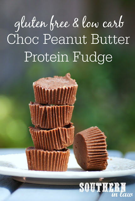 Healthy Chocolate Peanut Butter Protein Fudge Recipe  low fat, gluten free, high protein, clean eating friendly, refined sugar free, healthy