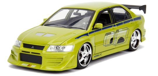 coleccion rapido y furioso, coleccion rapido y furioso jada tyos, coleccion rapido y furioso 1/32, Brian's Mitsubishi Lancer Evolution VII (2002)