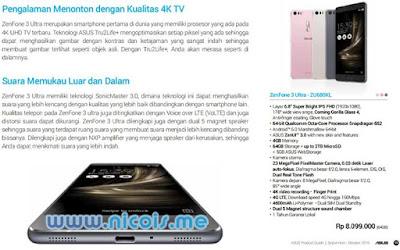 Harga dan Spesifikasi Asus Zenfone 3 Ultra ZU680KL