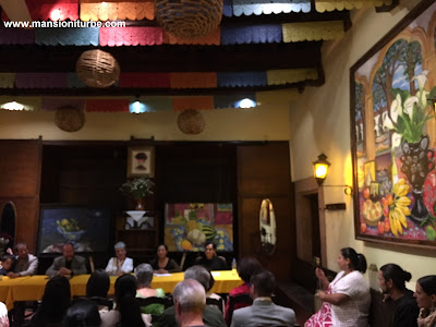 Presentation of the new book of Soledad Tafolla at Restaurante Doña Paca from Mansion Iturbe in Patzcuaro