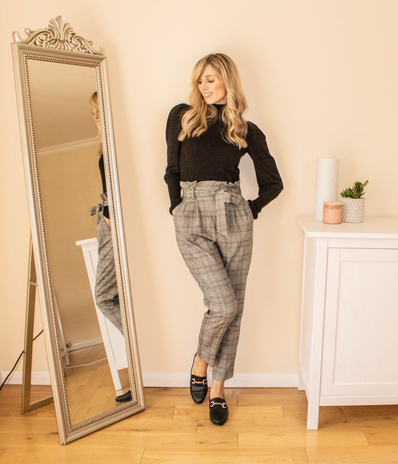 How to style paper bag trousers for work