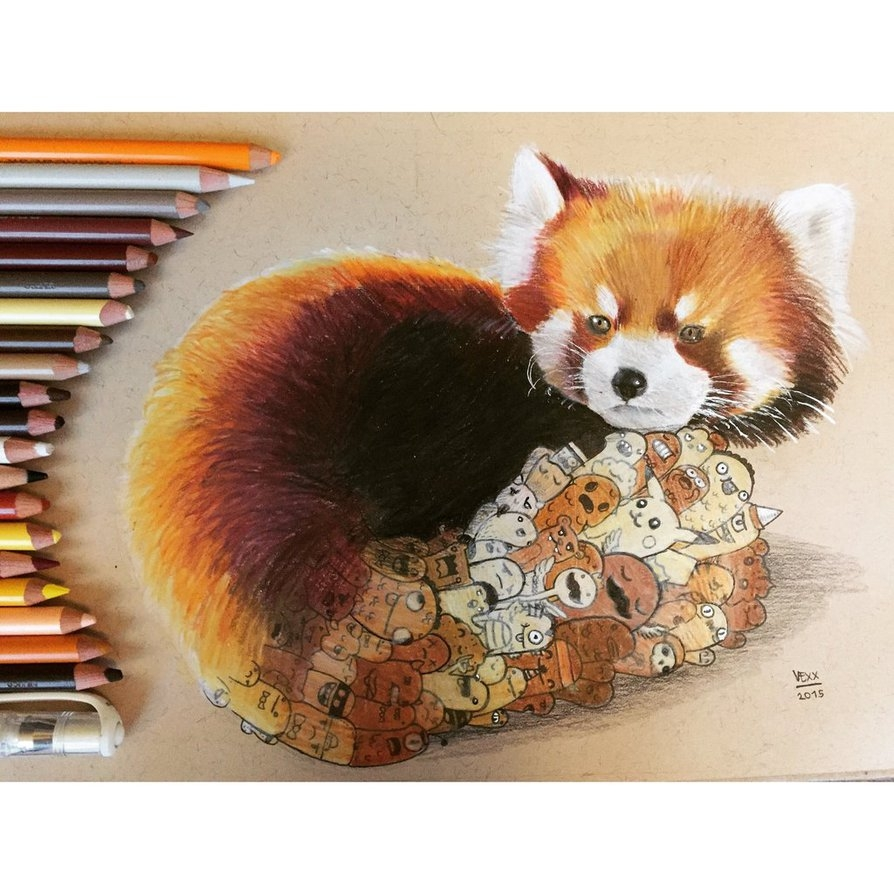 06-Red-Panda-Doodle-Vince-Okerman-vexx-Doodle-Drawings-that-Brightenup-your-Day-www-designstack-co