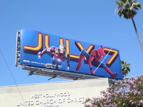 Spiderman Homecoming movie billboard