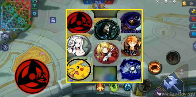 Script Analog Controller Mobile Legends Tema anime