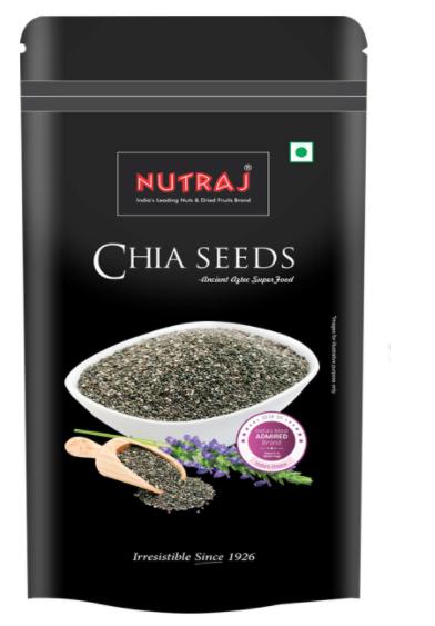 Nutraj Raw Chia Seeds 200g (Superfood - Rich in Antioxidants, Fiber & Omega-3 Fatty Acids)