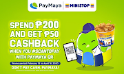 Use PayMaya QR at Ministop to get quick treats and sweet deals