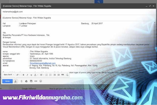 Cara Mengirim Lamaran CV Lewat Email Mudah Diterima Kerja