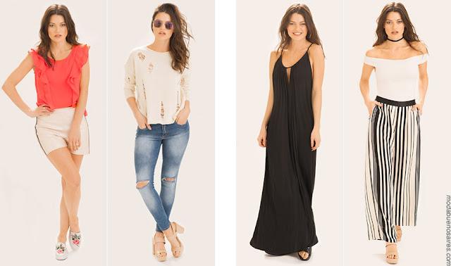 Moda primavera verano 2018 ropa de mujer. Moda ropa verano 2018.