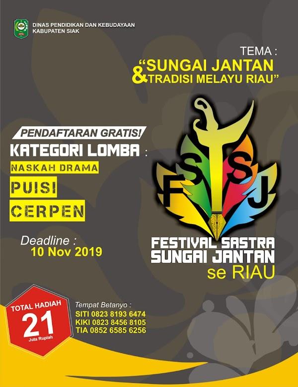 Ayo, Ikuti Festival Sastra Sungai Jantan 2019