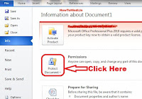 how to create password protected document in word