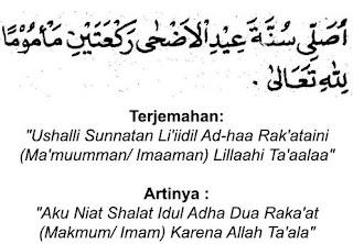 Niat Sholat Idul Adha