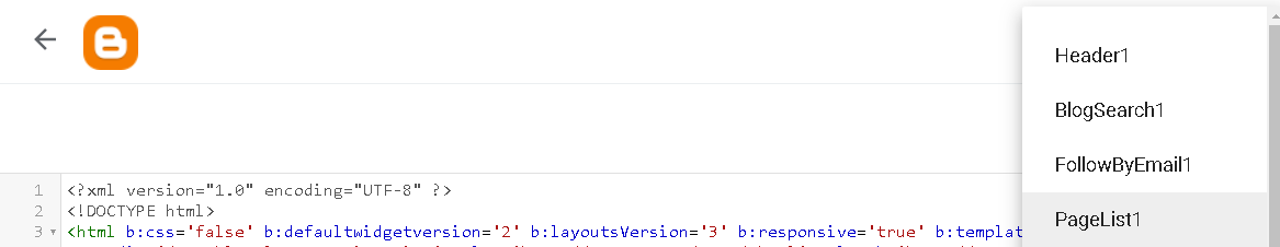 pilih widget page list