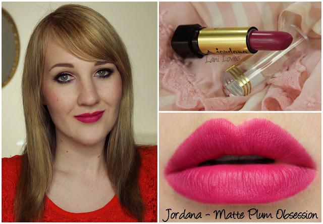 Jordana Matte Plum Obsession lipstick swatch