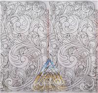 sketsa gambar Ukiran menyambung terus untuk batu alam paras jogja/ batu paras putih