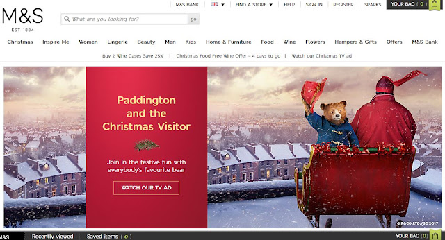 Paddington Marks and Spencer website