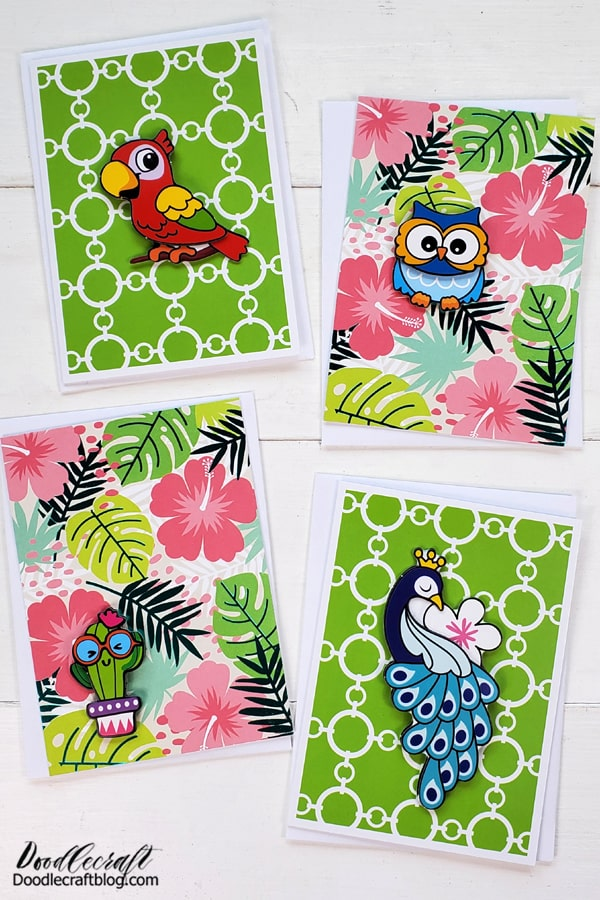 I love doing crafts with supplies from Dollar Tree! Dollar store crafts are the best! I'm going to show you how simple it is to make super cute handmade cards with stickers and stock cards from Dollar Tree!