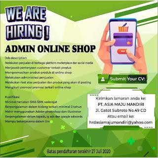 Admin Online Shop di PT Asia Maju Mandiri