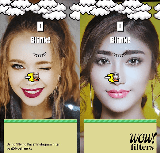 aplikasi flying face kedip mata mirip game flappy bird