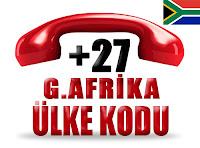 +27 Güney Afrika ülke telefon kodu