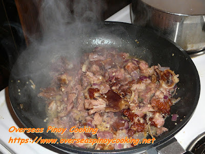 Pinoy Ham Bone Macaroni Soup Cooking Procedure
