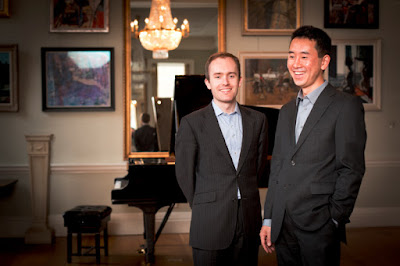 Simon Callaghan and Hiroaki Takenouchi, the Parnassius Piano Duo - photo Benjamin Ealovega