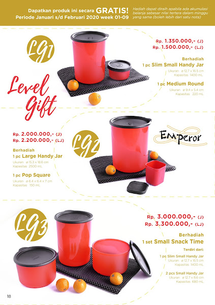 Level Gift Tulipware Februari 2020