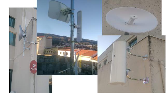 Desde o terraço da Pegasi podemos ver diferentes tipos de antenas que proporcionam Internet a inumerabéis lugares.